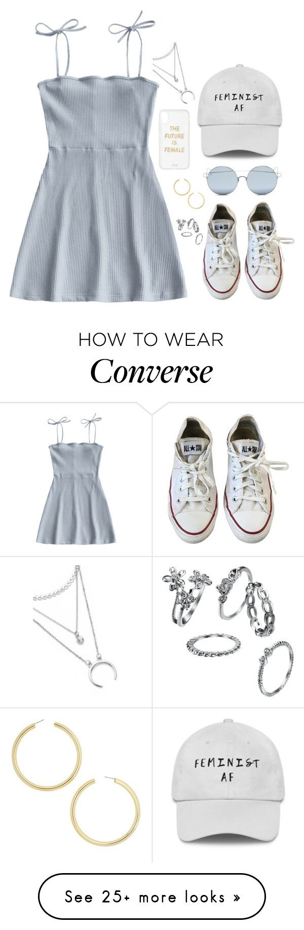 """???"" by gustavia5347 on Polyvore featuring Converse, For Art's Sake, Sonix and BaubleBar"