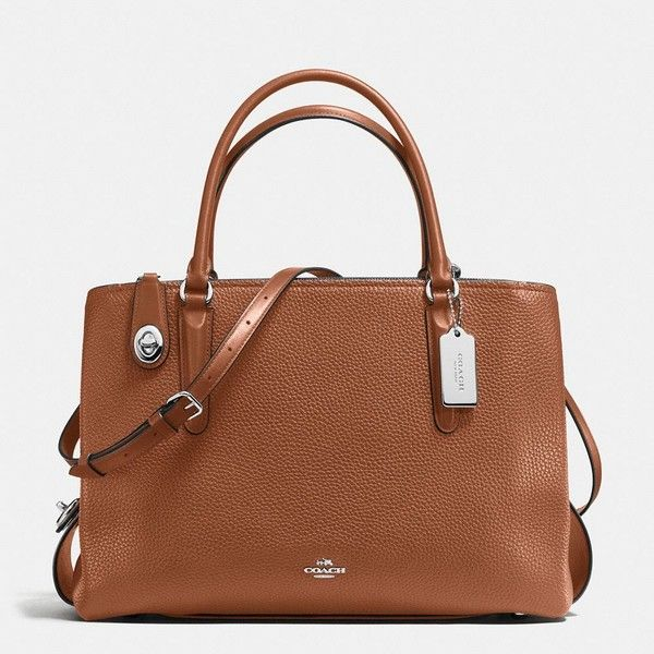 Coach Brooklyn Carryall 34 ($595) ❤ liked on Polyvore featuring bags, handbags, shoulder bags, pocket purse, coach shoulder bag, crossbody shoulder bags, crossbody purses and laptop purse
