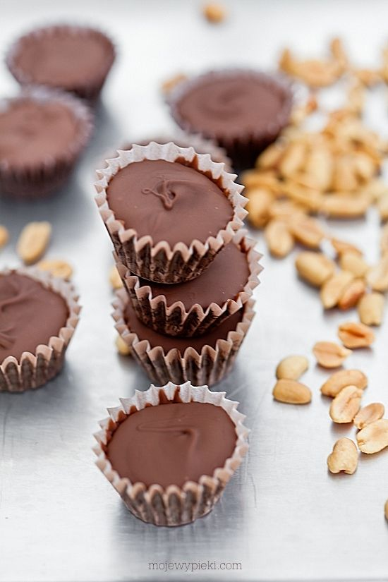 Domowe czekoladki Reese's- tylko gorzka czekolada