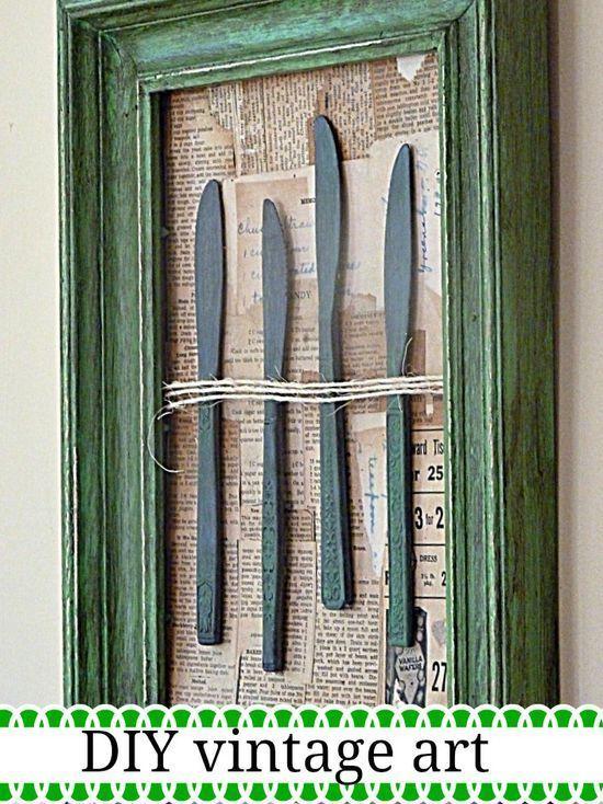 DIY Vintage Kitchen Wall Art