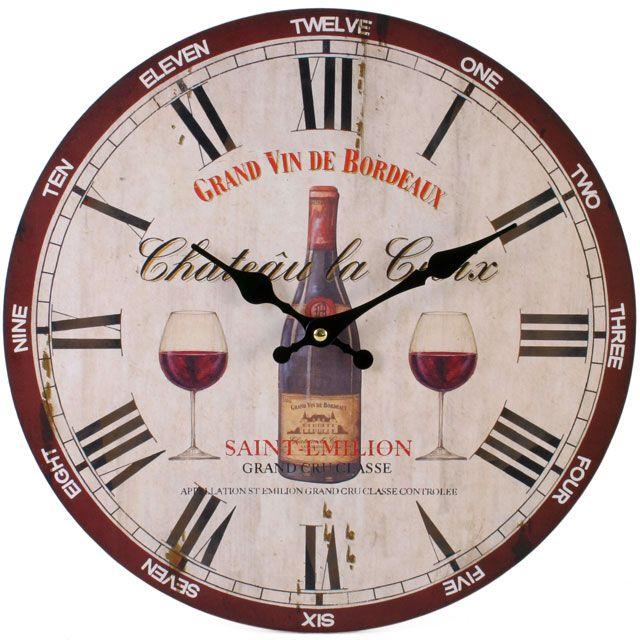 Saint Emilion Clock (measures approx. 34cm across)