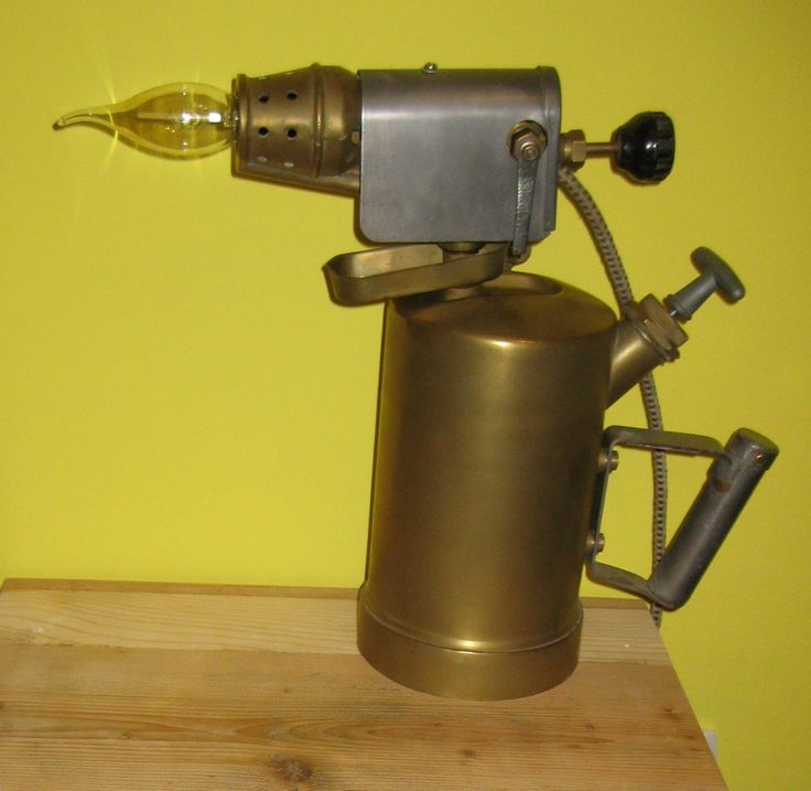Blow torch table lamp