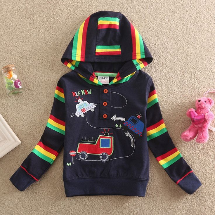 NEAT 2017 new hat sweater handsome sunspots plus colorful striped decoration cartoon car pattern casual novel style L1008#  #Affiliate