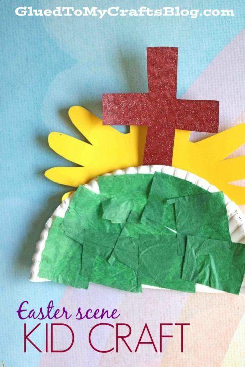Paper Plate Easter Scene Kid Craft