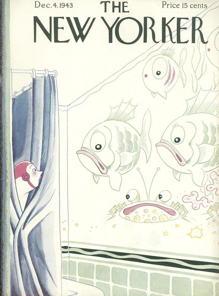 Rea Irvin : Cover art for The New Yorker 981 - 4 December 1943