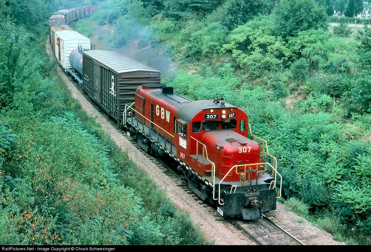 RailPictures.Net Photo: GBW 307 Green Bay & Western Alco RS-3 at Wisconsin Rapids, Wisconsin by Chuck Schwesinger