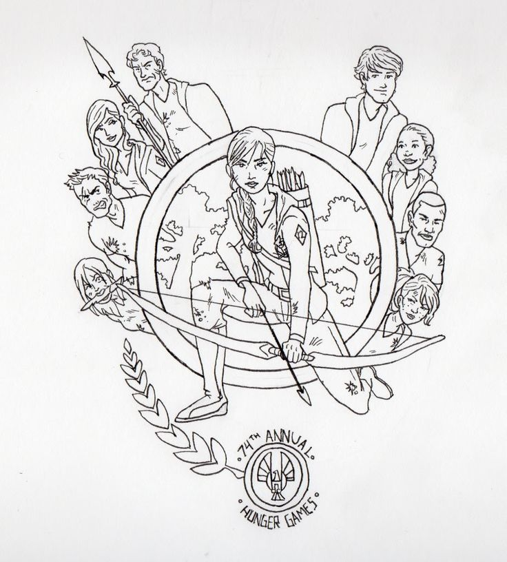 13 best hunger games coloring pages images on Pinterest | The hunger ...
