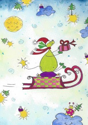 Snoebel kerstslee, Snoebel christmas sleigh (Snoebel ®© )