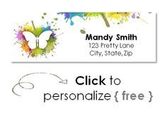 Free return address labels that can be created online free with our label maker.