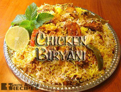 """South African Recipes:  CHICKEN BIRYANI  (Manila Williams) Biryani, is made from par boiled rice, which is then assembled with the other ingredients, sealed and put on """"dum"""" (put on a very low heat, so that all the flavors inside the pot amalgamate well) for at least 45 minutes."""