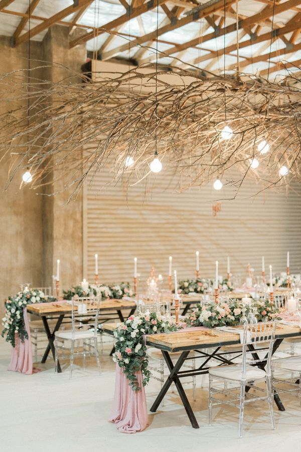 Blush Rose Gold South African Wedding In 2019 Reception Style