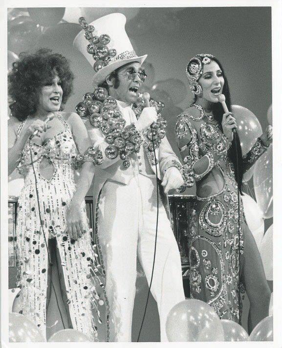 Bette Midler, Elton John & Cher.