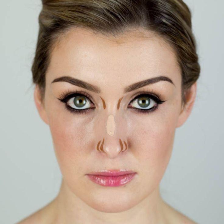 como maquillar una nariz ancha fácilmente