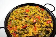 Paella Vegetariana Te enseñamos a cocinar recetas fáciles cómo la receta de Paella Vegetariana y muchas otras recetas de cocina..