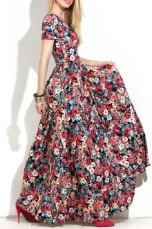 Maxi vestido de flores  http://www.zaful.com/short-sleeve-full-floral-maxi-dress-p_93688.html?currency=USD&gclid=CKrQkcWT1skCFRBmGwodA2EDXQ