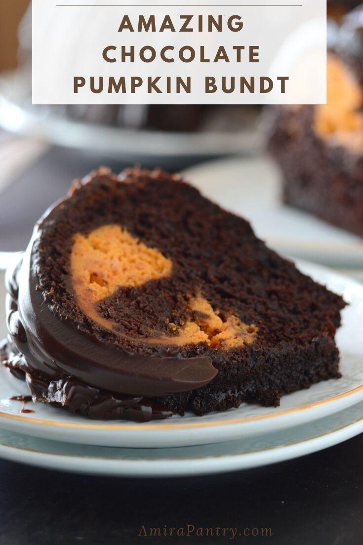 Chocolate Bundt Cake With Pumpkin Cream Cheese Filling Recipe