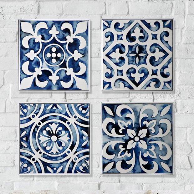 tile wall art mediterranean wall decor