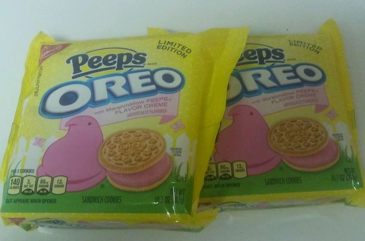 Perfect for that Easter party!  2 PKGS. Nabisco Oreo Peeps Flavored Creme Sandwich Cookies Limited Edition $17.99  #ebay