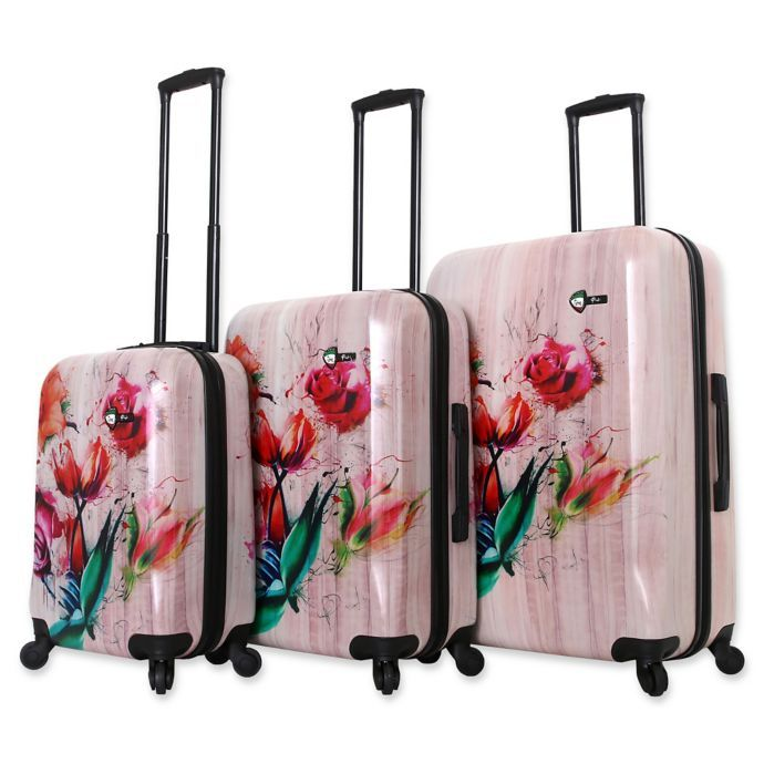 Mia Toro Italy Paola Hardside Spinner Luggage Collection Bed