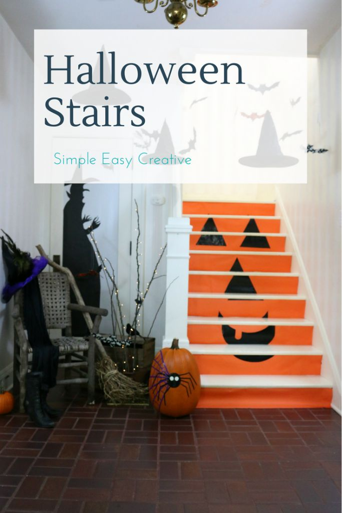 Halloween Stairs - easy and festive!