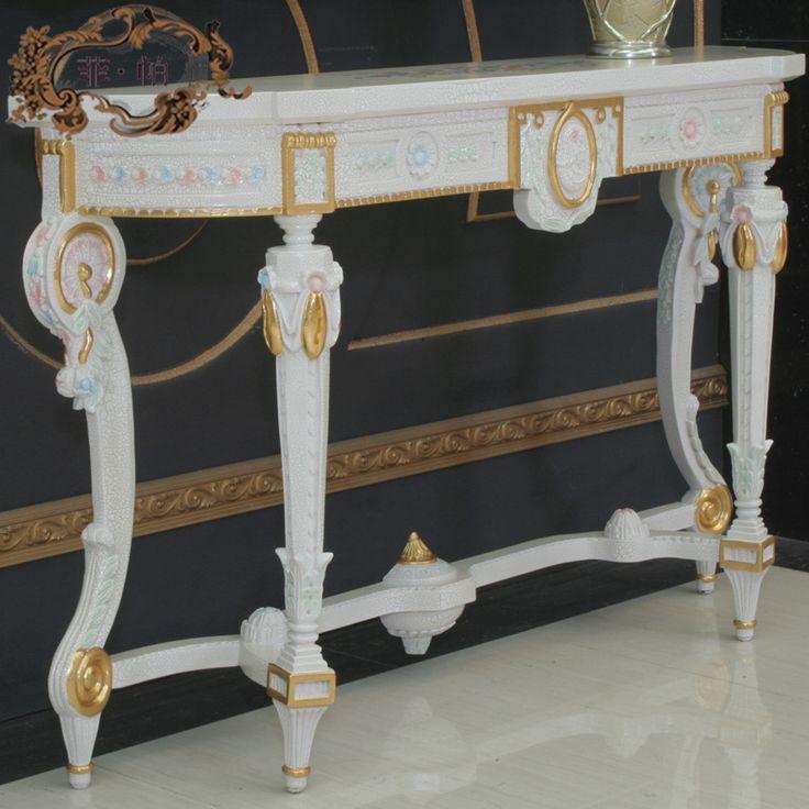 Фарфоровый завод прямые продажи рука-резные деревянная мебель анти-гардеробные столик итальянская мебель