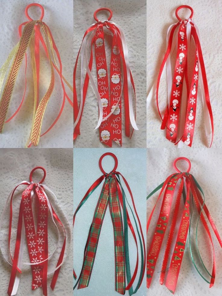 XMAS GIRLS TEENS SATIN CHIFFON RIBBON PONIO PONYTAIL HOLDER HAIR ACCESSORY  #HandmadebyBONNIEBOBBLES