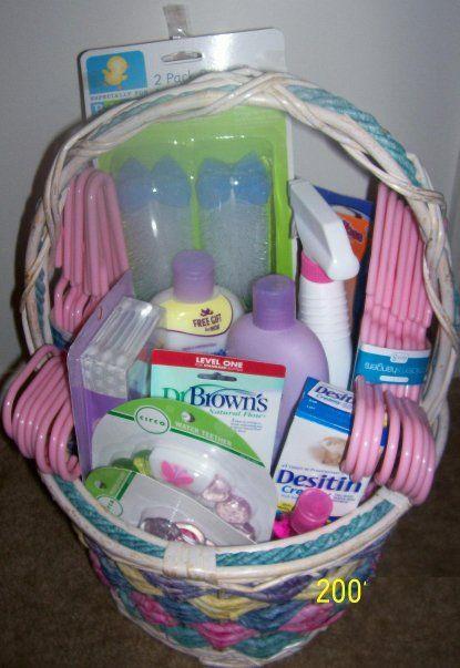 baby shower basket diy pinterest