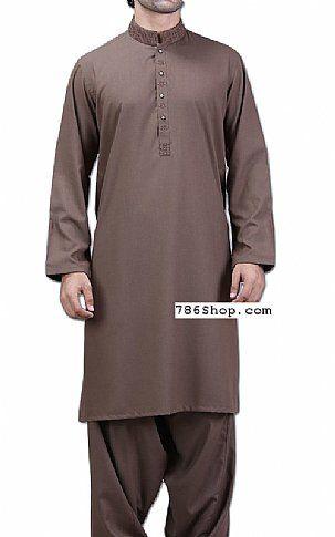 Chocolate Men Shalwar Kameez Suit   Buy Pakistani Indian Dresses