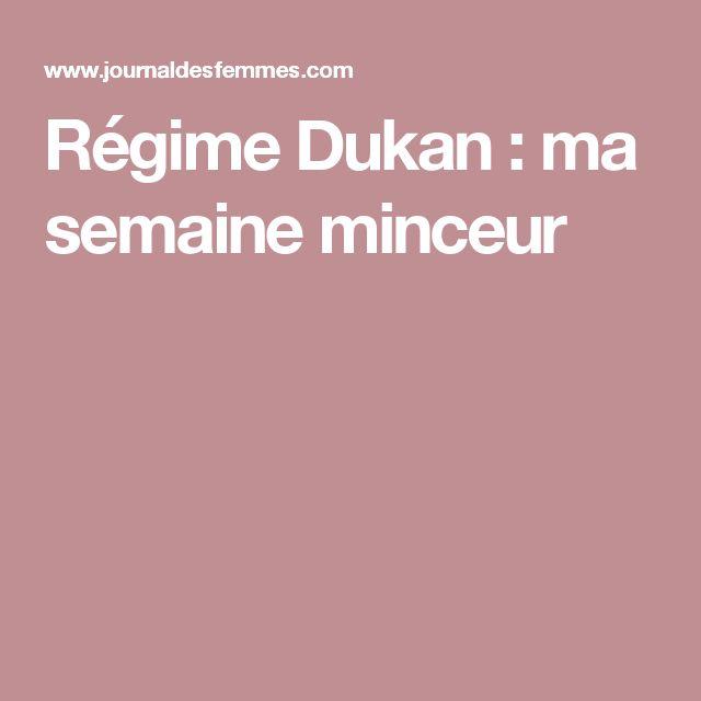 Régime Dukan: ma semaine minceur