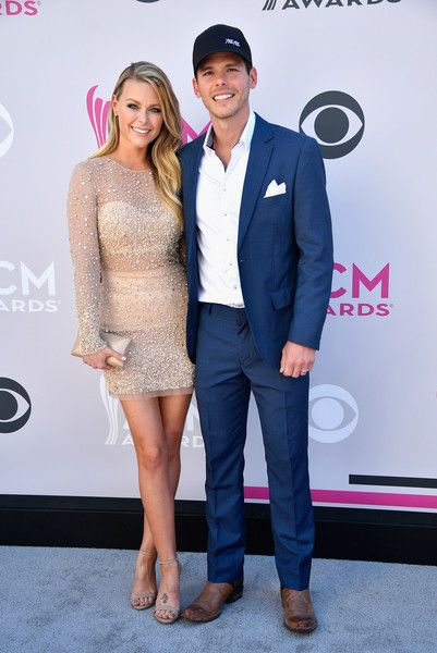 Amber Bartlett (L) and singer-songwriter Granger Smith attend the 52nd Academy Of Country Music Awards at Toshiba Plaza on April 2, 2017 in Las Vegas, Nevada.