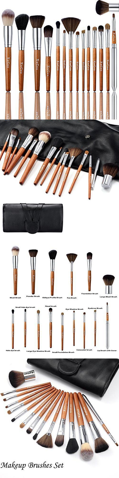 Beauty Makeup: 15 Pcs Professional Makeup Brushes Set Foundation Contour Blending Eyeshadow New BUY IT NOW ONLY: $33.98