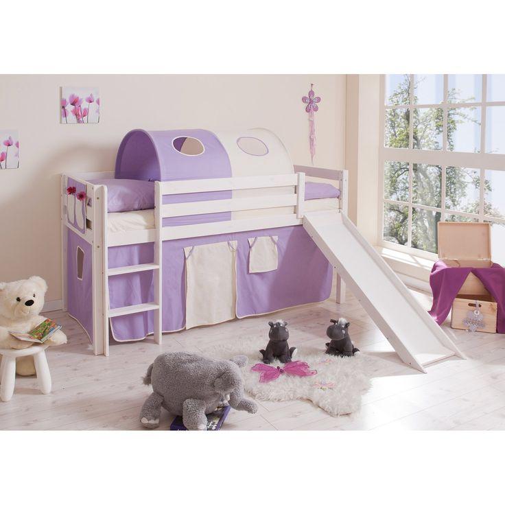 hochbett mit rutsche lila beige - Hausgemachte Etagenbetten Mit Rutsche