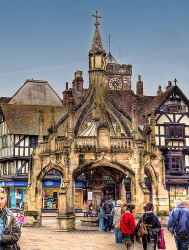 The 15th century Poultry Cross in Salisbury, Wiltshire    Once a market site for fruit and vegetables as well as poultry, the Poultry Cross was built in the late 15th century on the site of an earlier structure first mentioned in 1307. There were three other crosses in medieval Salisbury; for livestock, cheese and milk, and wool and yarn.