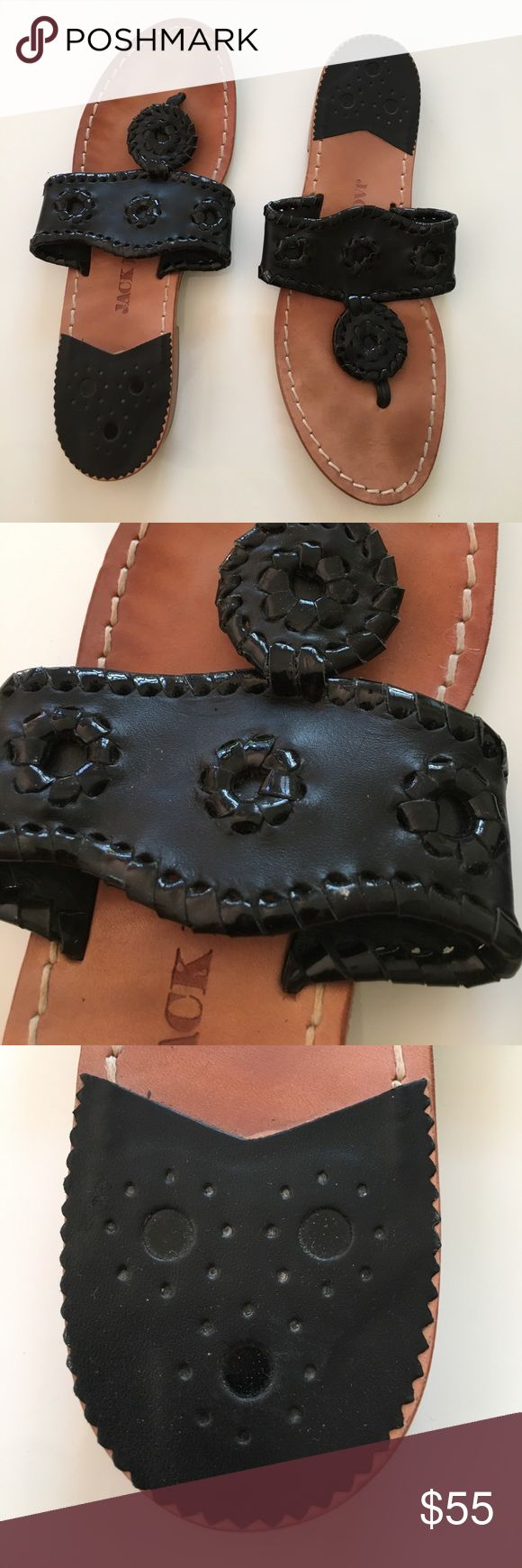 Jack Rogers Sandals Black Jack Rogers sandals size 6. In great condition. Jack Rogers Shoes Sandals