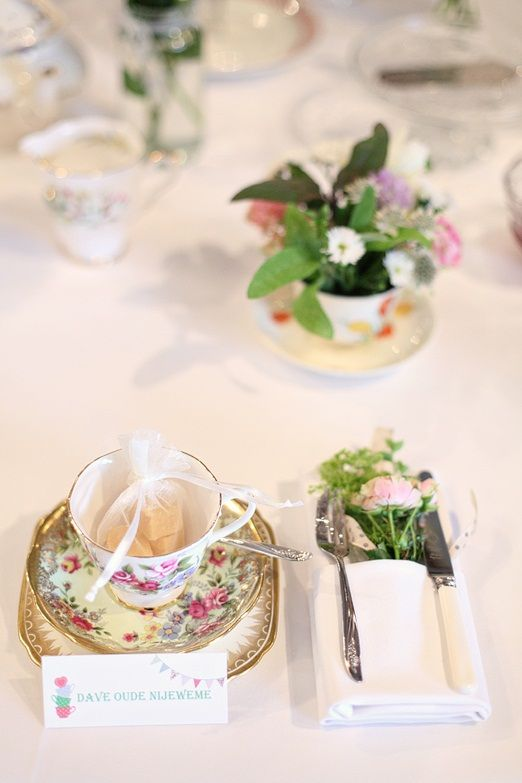 Vintage country wedding place setting