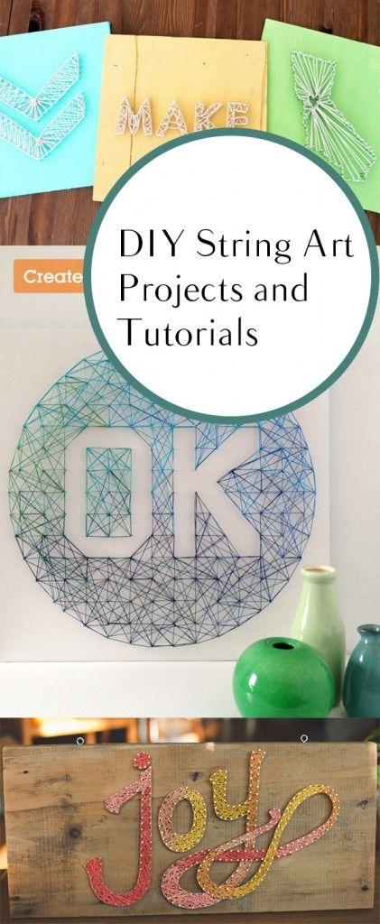 DIY String Art Projects and Tutorials. DIY, DIY home projects, home décor, home, dream home, DIY kitchen, DIY kitchen projects, weekend DIY projects.