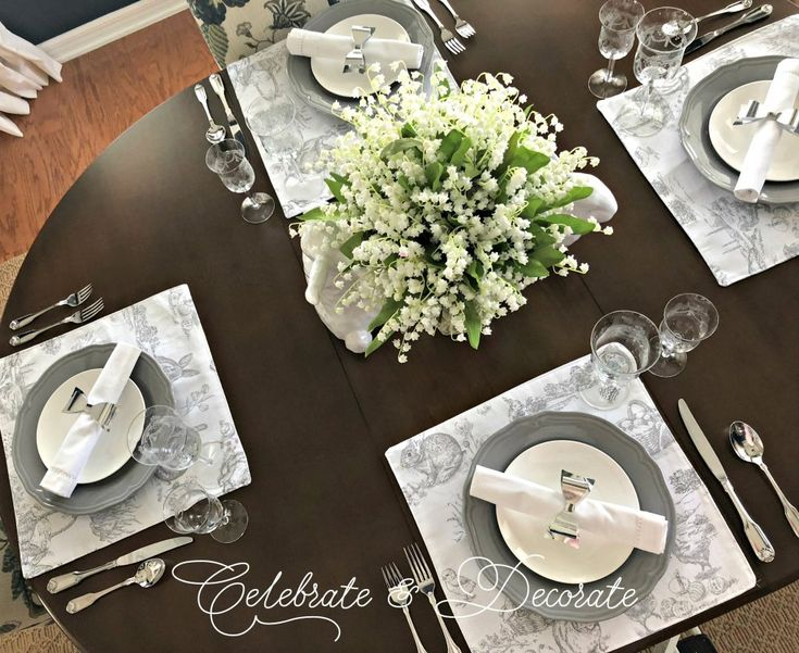 Sweet and Simple Spring Tablescape - Celebrate & Decorate