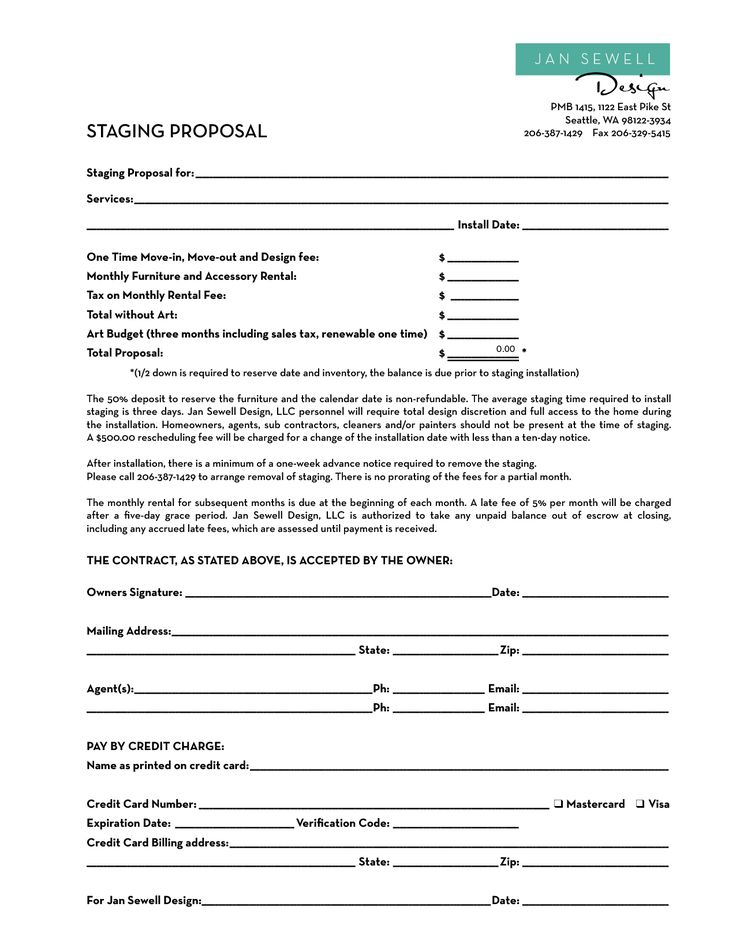Home Staging Contract Template  Bing Images   Bowie Real Estate