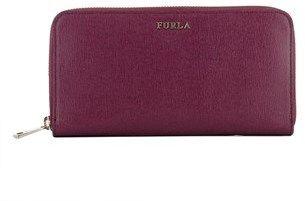 Furla Women's Purple Leather Wallet.