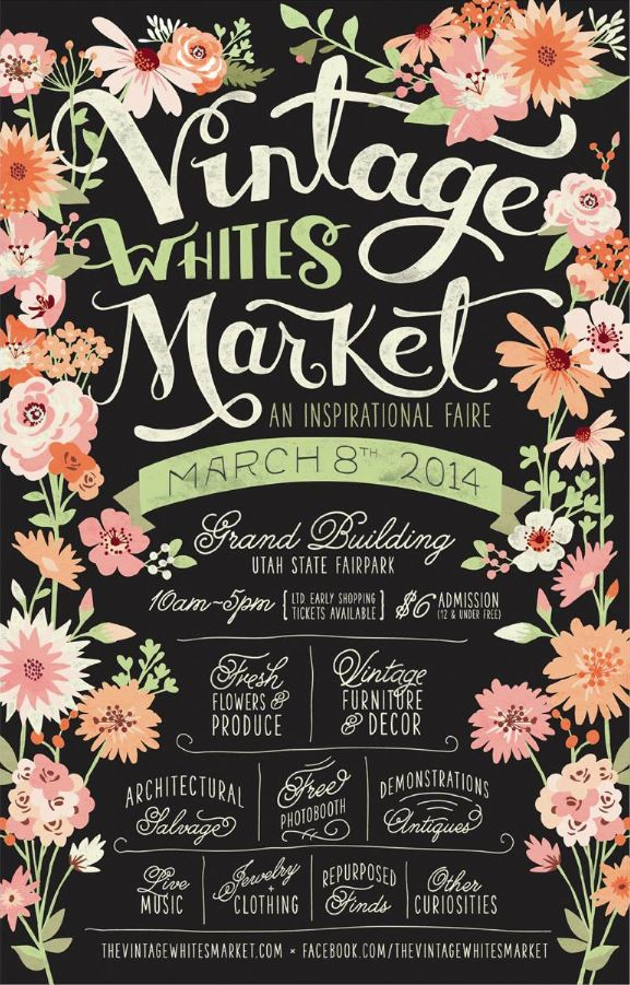 Vintage Whites Market Poster // Final // Courtney Blair