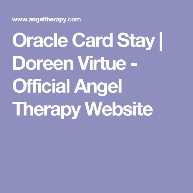 Oracle Card Stay | Doreen Virtue - Official Angel Therapy Website