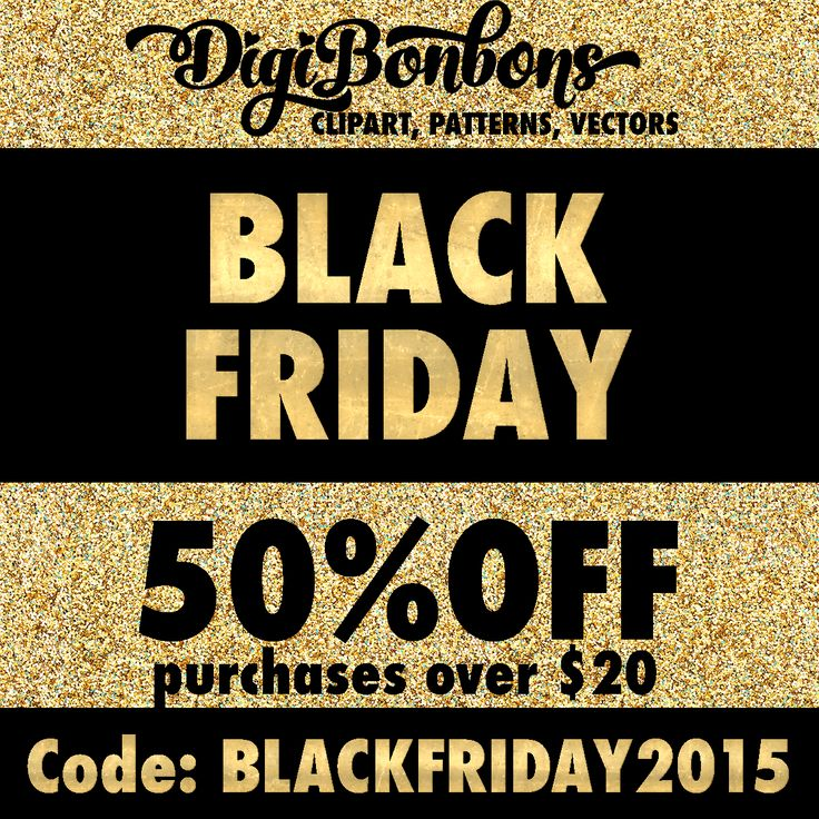 BLACK FRIDAY SALE! Get clipart, vectors, and patterns at 50% off in purchases over $20 at DigiBonbons.Etsy.com