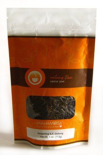 Mahamosa Darjeeling Second Flush Oolong Tea 4 oz, Indian (India) Oolong Tea Loose Leaf (Looseleaf) (wu long tea, wulong tea) -- Want additional info? Click on the image.