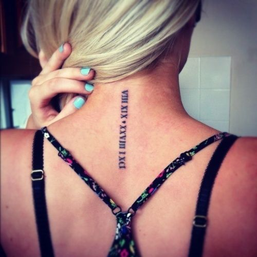 Roman Numeral Tattoos. If youre into tattooing dates, itd be great for a wedding date, kids birthdays, or any other important date. Loving the idea for the date I was officially Cancer Free.