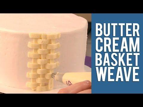 Buttercream Basketweave Cake Design