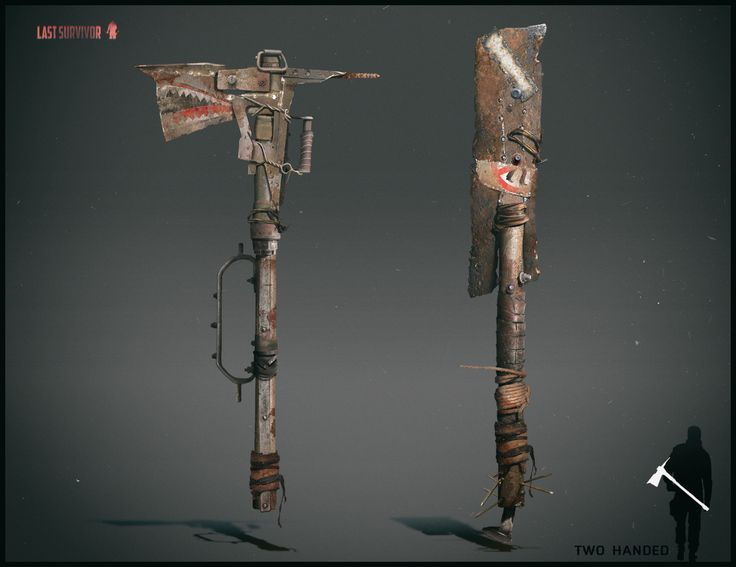 Apocalipsis Zombie Armas Blancas >> ArtStation - Melee weapon design. Post apocalyptic setting, Anton Kazakov | Homemade weapons ...