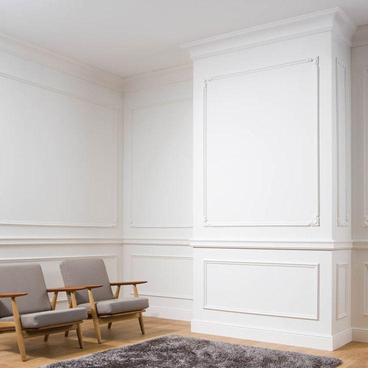 этой страничке фото оформление стен обоями и молдингами метод применяют