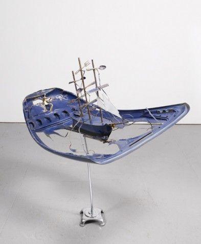 Meta-Physic - Ship of Fools, Figure of Gold Bill Woodrow 1984.