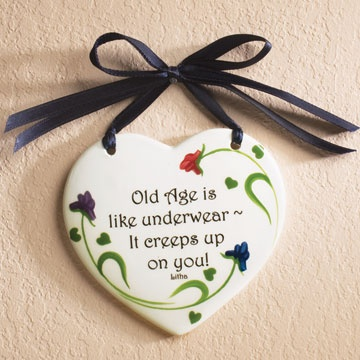 old age is like underwear...it creeps up on you!: Spring Chickens, Old Age, Personal Thoughts, Underwear It Creeps, Golden Years