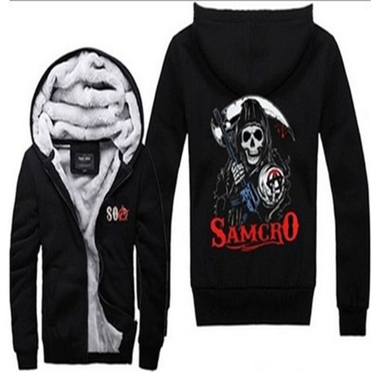 sons of anarchyFashionthe child of the new 2016 chaos fleece Sons of Anarchy cotton hoodie Thickening and velvet coat style more #Affiliate